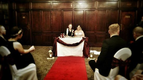 The Imperial Crown Hotel: Our wonderful wedding ceremony