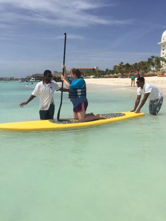 Paddle board included in your package