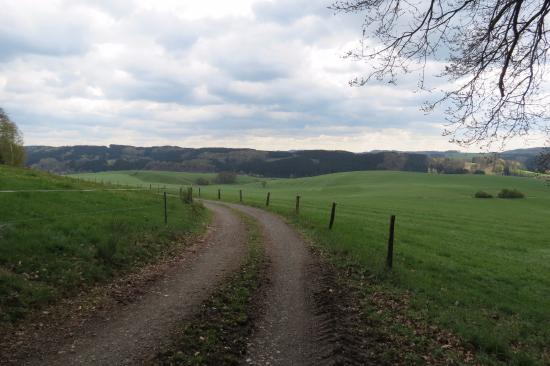 Lindlar, Alemania: Prachtig uitzicht vanaf de camping