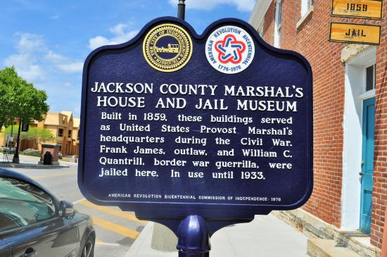 Jail, Marshal's Home & Museum: Marker outside the Marshall House and Jail Museum