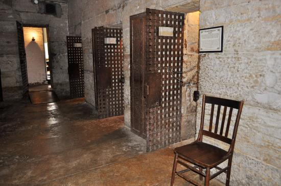 Jail, Marshal's Home & Museum: 1859 Jail Cells Preserved