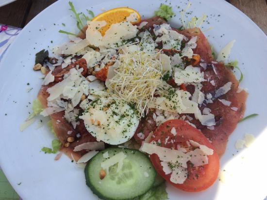 Minckelers: salade carpaccio