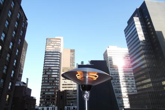 Roger Smith Hotel: View from the Rooftop Bar.