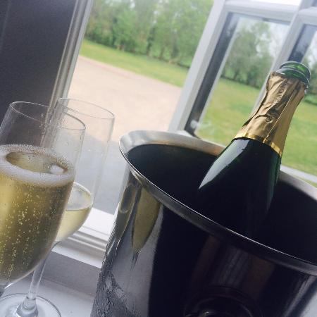 Little Wymondley, UK: Salmon Main + Champagne on arrival.