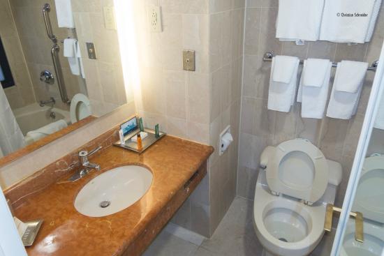 Hilton Manhattan East: Mini banheiro :(