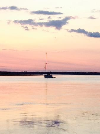 Epworth By The Sea: Sailboat on the Frederica River outside my building