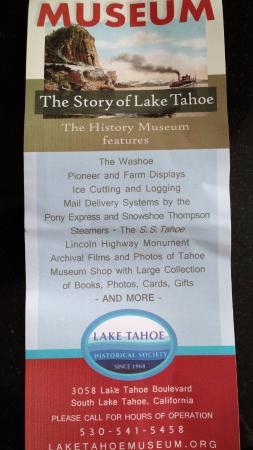 South Lake Tahoe, Californië: Info Sheet with General Information