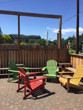 Mosier, OR: Patio Picture