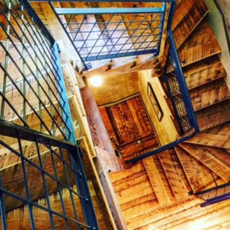 The Inn At Abeja: Recycled Boxcar Wood Stair Treads