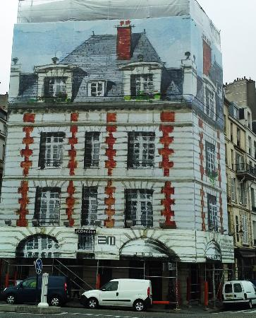 Paris, France: Apartment Building Near the Seine River Being Renovated.