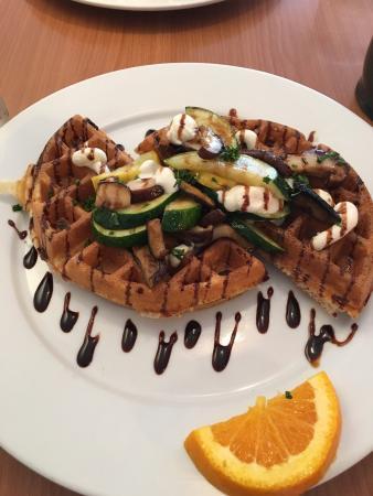 GonZo AK: Delicious savory vegetarian yeast waffle! Will go back ASAP! Yum