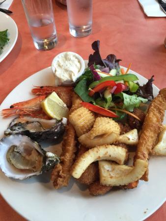 Orford, Australie : Seafood basket