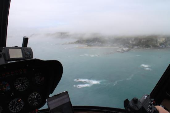 Kaikoura, Nueva Zelanda: Área muy nublada