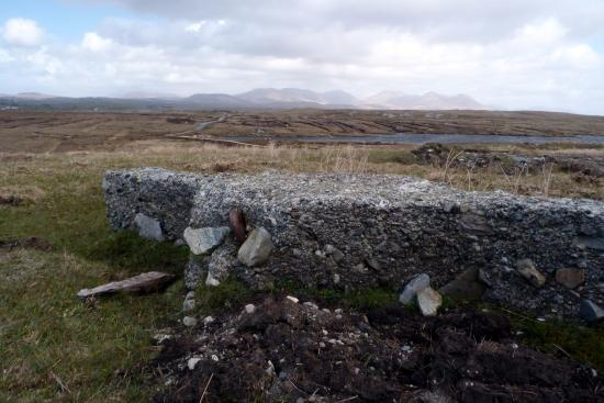Marconi Station on Derrigimlagh bog. Looking east over site to The Twelve Pins,  2-5-16.