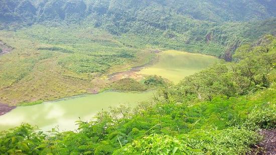 Mount Galunggung: danau kawah galunggung