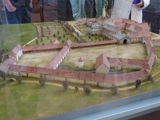 Saint-Nicolas-les-Citeaux, ฝรั่งเศส: Maquette de l'Abbaye au temps de sa grande activité.