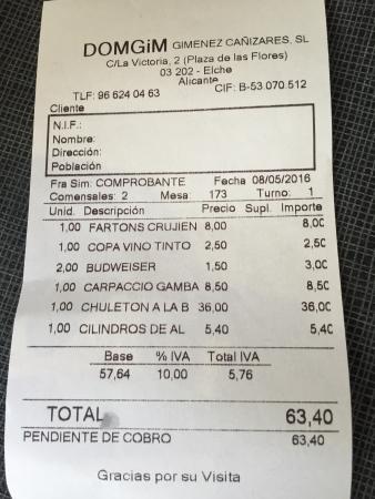 Domgim : La cuenta