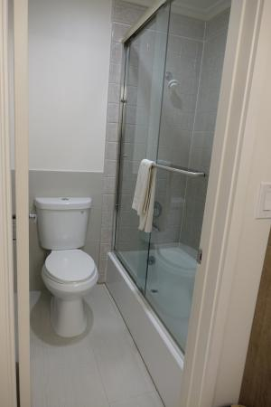 This vanity is opposite toiletshower room So new clean and tidy