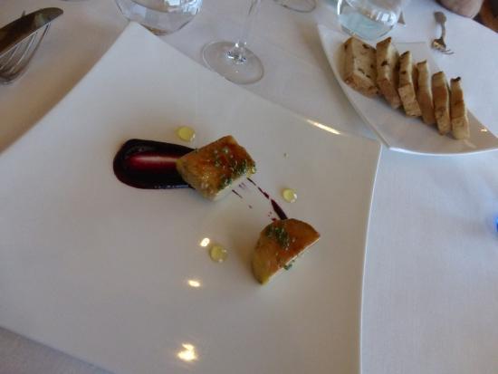 Galdakao, Hiszpania: Taco de foie caramelizado con frutos rojos