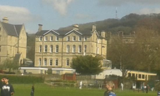 The County Hotel: View of hotel from Bath Rugby stadium
