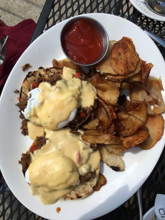 The Metropolitan: Cheesesteak Eggs Benedict