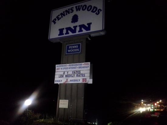 Penns Woods Inn Manheim: I was a little upset that the daily rate wasn't $6 dollars a night as advertised.