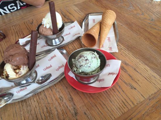 Pompei's Bondi: mint chocolate chip ice cream