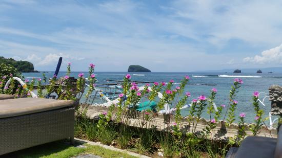 Hotel Genggong at Candidasa: View from my sun lounge