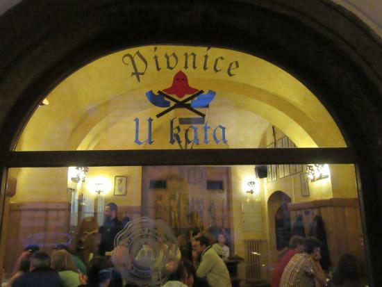 Ghosts and Legends Tour by Haunted Prague: Café dedicated to a famous executioner