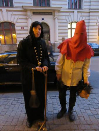 Ghosts and Legends Tour by Haunted Prague: the famous executioner himself paying us a visit!
