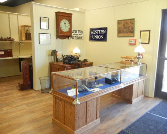 Bloomfield, Nova York: Admission Desk/Telegraph Office Exhibit
