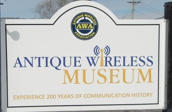 Antique Wireless Museum Sign