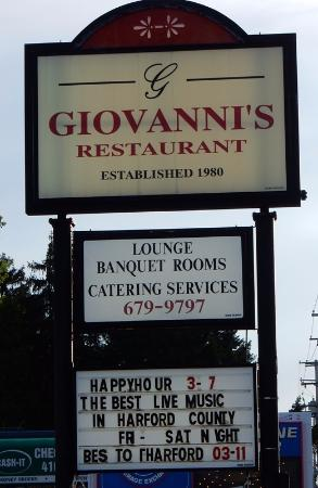 Giovanni's is on the eastbound side of US-40, before Edgewood Rd.