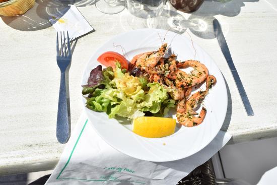 Le Cafe du Phare : poêlée de crevettes roses et grises