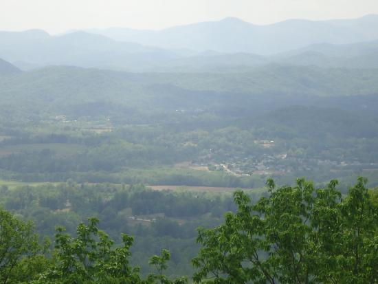 Laurel Park, Kuzey Carolina: View from Jump Off Rock