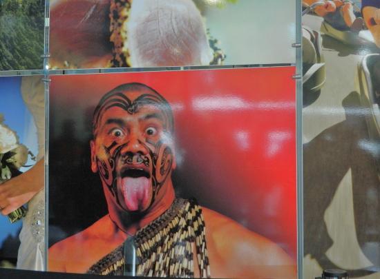Queenstown, New Zealand: Ad for Maori Kiwi Haka performances