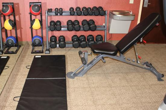 Comfort Inn Madison - Downtown: Weight bench with free weights