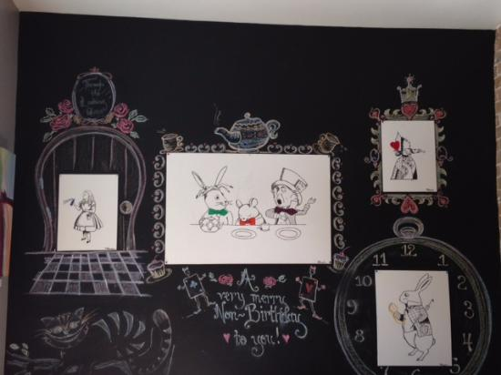 Lovely Alice in Wonderland wall mural Picture of The Tea Party
