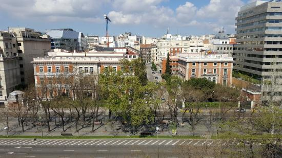 """Gran Melia Fenix: """"guestrooms with views are distinguished by.. magnificent panoramic view of center-city Madrid""""."""