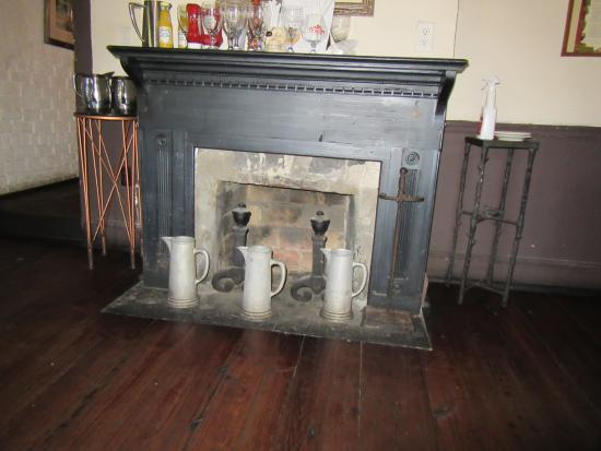 The Pirates House Fireplace In Small Dining Room Of Herb