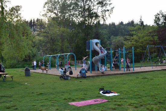Kirkland, WA: Playground area at Juanita Beach.