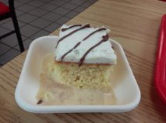 Mounds View, MN: The tres leche cake was definitely homemade...