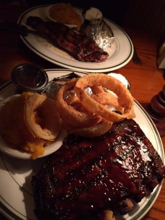 South Dennis, MA: Ribs, onion rings, butternut squash