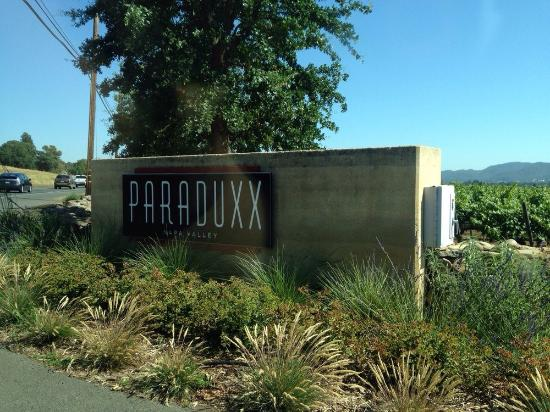 Paraduxx Winery: Look for this sign and turn in. Careful or you'll miss it.