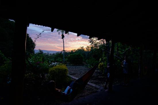 Finca Mystica: Sunset from a hammock