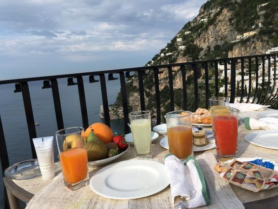 Breakfast on our private terrace. I think the picture says it all.