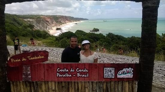 Estado de Paraiba: você deve tirar foto nessa placa... muito linda essa visão de praia.