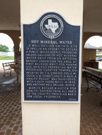 Marlin, TX: Historical Marker