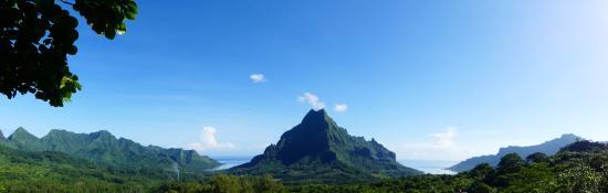 Moorea, Fransk Polynesia: Vue du Belvedere