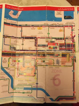 Dubai integrated public transport network map Picture of Dubai